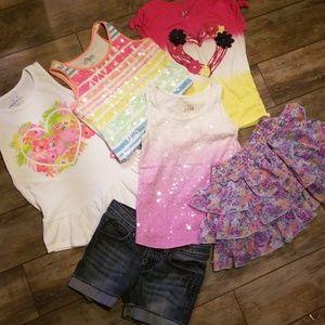 Bundle girls 7/8 Justice & Cherokee tops & bottoms